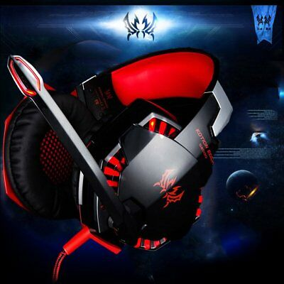 3.5mm Gaming Headset Mic LED Headphones Stereo Surround for PC PS4 Xbox ONE WF