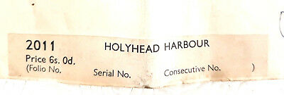 Holyhead Harbour Vintage Admiralty Nautical Chart no 2011 Revised 1954 Wales