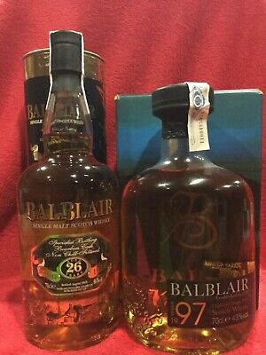 1+1  botellas de whisky  Balblair 26 years 1979-2005 + Balblair 1997-2010