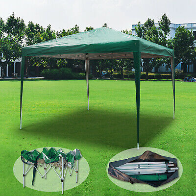 Gazebo Waterproof Pop-up Garden Marquee Canopy Wedding Party Tent 3Mx3M Green