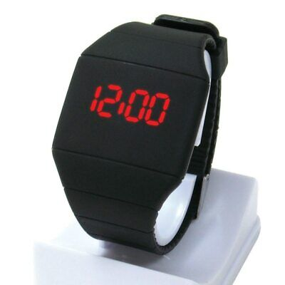 LED Touch Digital Screen Silicone Wrist Watches For Men Unisex School Boys Kids