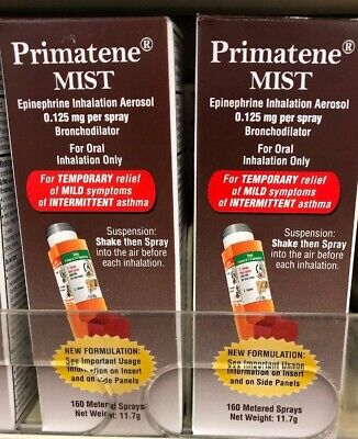 Primatene Mist Epinephrine Inhalation Aerosol, 0.125mg per spray 09/2020