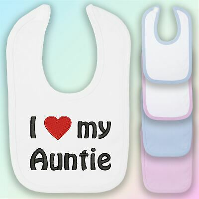 Personalised Favourite Auntie Embroidered Baby Bandana Dribble Bib Gift Funny