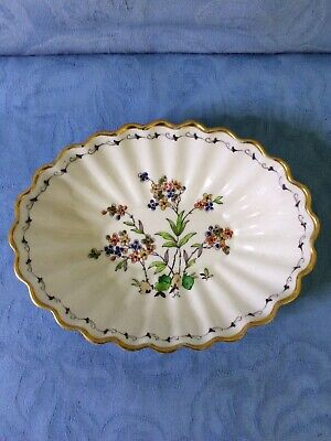 Vintage Hand Painted Tuscan China Fluted Dish
