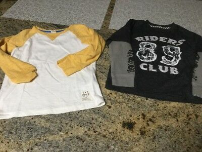 Lot Of 2 Boys Baby Gap Long Sleeve Tops Size 4 Years