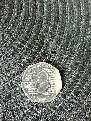 New Sherlock Holmes 2019 50p Fifty Pence Coin Rare Collectible Uncirulated