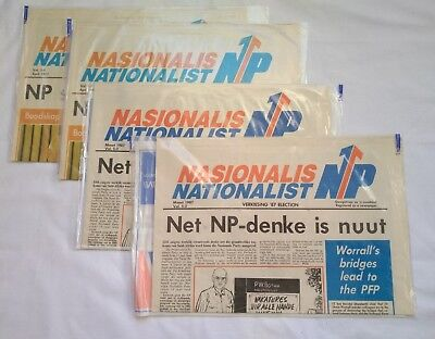 South African 1987 National Party Election Political Politics Newspapers