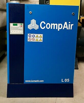 Compair L05 Rotary Screw Compressor! 23.3Cfm! 5.5Kw! 10.0 Bar! Fully Serviced!