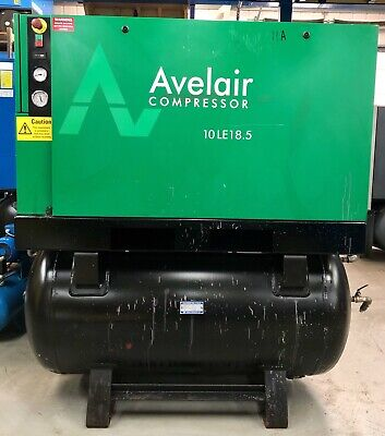 Avelair 10LE18.5 Receiver Mounted Rotary Screw Compressor! 18.5Kw, 10Bar, 94Cfm!