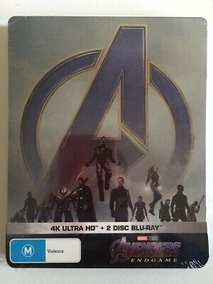 NEW Avengers Endgame 4K UHD Bluray Steelbook Limited Edition HDR Marvel Ironman