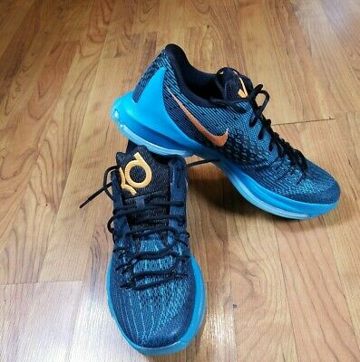 huge selection of f493b 90710 NIKE KD 8 Blue Bright Citrus 749375 480 Kevin Durant Basketball Mens Size  11.5