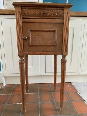 Antique Victorian Wooden Bedside Table