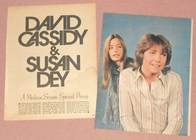 DAVID CASSIDY & SUSAN DEY - 2 Page Article/Full Page Pinup 1971 PARTRIDGE FAMILY