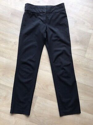Girls Black Trutex School Trousers, size 22S approx Age 11 years Short VGC Black