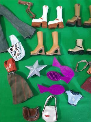 Bratz Doll 2001 Clothes Accessories Jeans Boots Bag Top Skirt  and more Job Lot