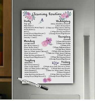 Cleaning Routine, Weekly Checklist, Daily Household Chores, Housework Schedule
