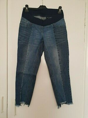 NEXT MATERNITY SLIM SLOUCH blue under bump jeans size 8R