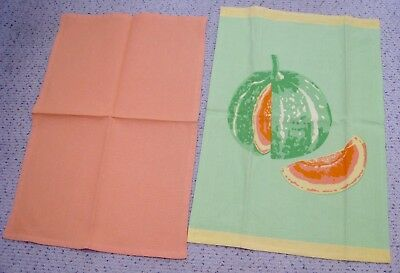 New XOCHi Pair of Two Tea/Kitchen Towels-Melon Design