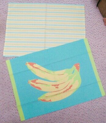 New XOCHi Pair of Two Tea/Kitchen Towels-Banana Design