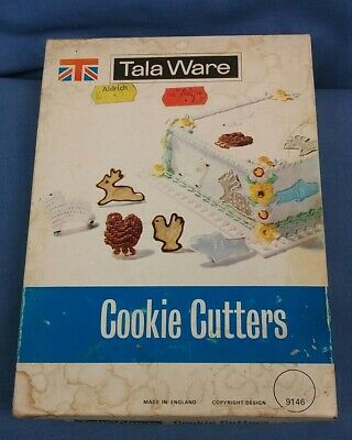 Nine Vintage Tala Ware Cookie Or Pastry Cutters In Original Box Kitchenalia