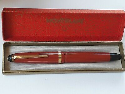Montblanc 206 Coral Red Danish Celluloid (1950') 14kt Nº6 (excellent)