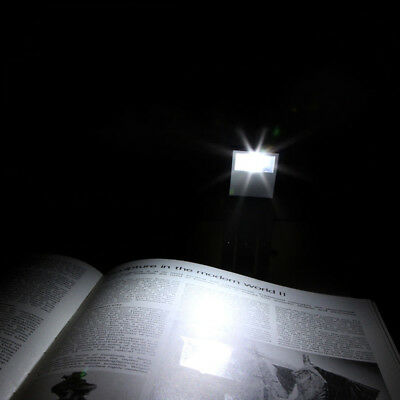 LED Clips On Flexible Book Bed Travel Light Reading Booklight Night Bright Lamp