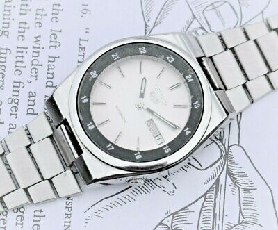 Lovely Vintage Seiko '5' Day Date men's watch. Automatic 17 Jewels.