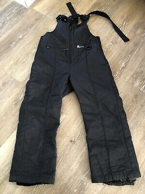 Ski Gear Snow Bib Overall Pants Black Youth Size XL Insulated Waterproof Kids