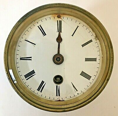 Antique Clock Face & Movement by R.Fage, Paris, for spares and repairs