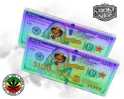 $100 Dollar Bill Rolling Papers Or Bob Marley Rasta Filter Tips Roach Booklets