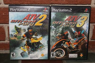 PS2 Lot of 2 ATV OFFroad Fury 2 and 3 PlayStation 2 Games