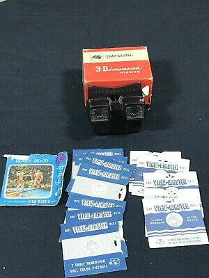 Sawyer's View Master in original box with large lot 17 reels Disneyland & Shows