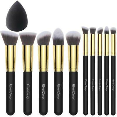 EmaxDesign Make up Brushes 10+1 Pieces Makeup Brush Set, 10 Professional Foundat
