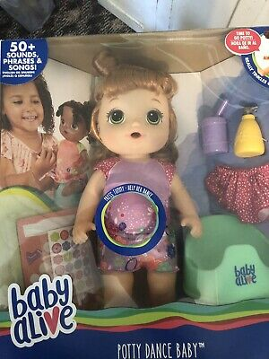 Baby Alive Potty Dance Doll RED HAIR AND FRECKLES!
