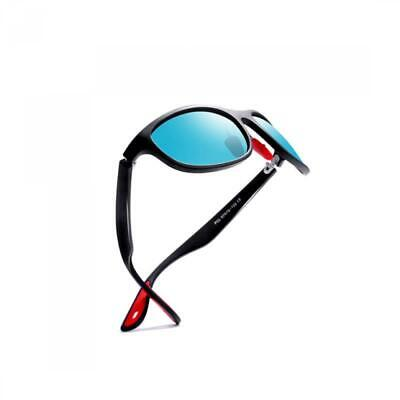 Kimorn Polarized Sunglasses For Men Goggle Sport Oval Frame Red Rubber Temple K0