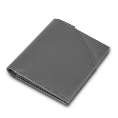 Thin Bifold Wallets for Men Minimalist Genuine Leather Compact Narrow Wallet Pur