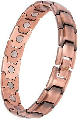 Smarter Lifestyle Elegant Pure Copper Magnetic Therapy Bracelet Pain Relief for