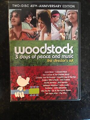 Woodstock: 3 Days of Peace & Music (2 Disc DVD Director's Cut) 40th Anniv. Ed.