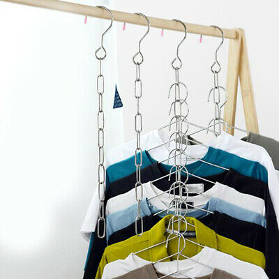 Stainless Steel Chain Hanging Garage Garden Clothes Pan Hanger Heavy Duty Tool