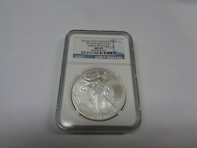 2013 (S) $1 NGC MS69 American Silver Eagle Early Releases Blue Label