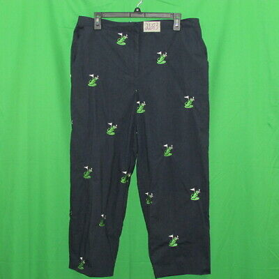 Lilly's of Bevery Hills women's capris, navy size 16, cotton blend, stretch