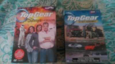 Top Gear - The Challenges 1-4 Collection (DVD) + The Great Adventure 3 free p&p