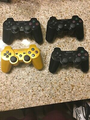 Official OEM Sony PlayStation 3 PS3 Controller lot of 4