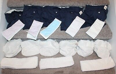 Lot of 19 Smart Pockets Reusable Cloth Diapers Small/Medium 6-20lbs Shorts Pads