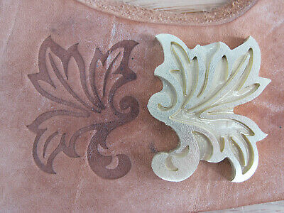 Historic LEAF Design Leather Bookbinding Finishing tool Stamp EMBOSSING die ST7