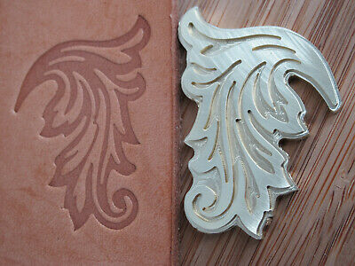 Feathery LEAF Design Leather Bookbinding Finishing tool Stamp EMBOSSING die ST7