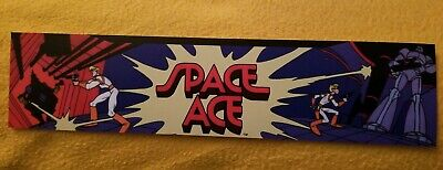 Space Ace marquee sticker. 2.5 x 10.5 (Buy any 3 stickers, GET ONE FREE!)