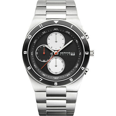 BERING Time 34440-702 Mens Solar Collection Watch with Stainless steel Band and