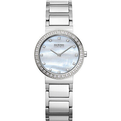 BERING Time 10729-704 Womens Ceramic Collection Watch with Stainless steel Band