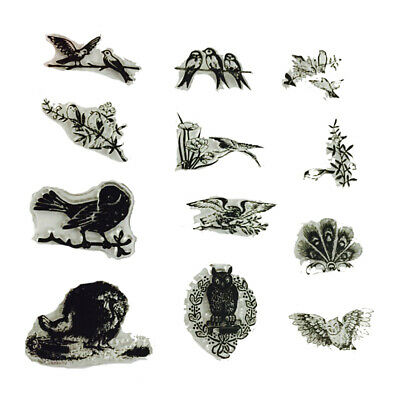 Various Birds Pattern Clear Transparent Silicone Stamp DIY Scrapbooking Decor